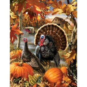 GOBBLER FARMS 1000+ PIECE JIGSAW PUZZLE by SUNSOUT ~ NEW & SEALED