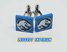 LEGO Custom Tile Cufflinks - Jurassic World dinosaur - minifig scale FREE POST