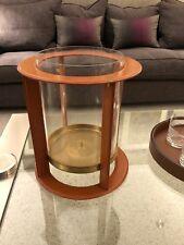 Silla de montar de cuero modernos Ralph Lauren Patinado Latón huracán candeleros de vidrio