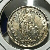 1952-B SWITZERLAND 1 SILVER FRANC BRILLIANT UNCIRCULATED COIN