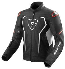 GIACCA JACKET MOTO REV'IT REVIT VERTEX H2O IMPERMEABILE WP NERO ROSSO RED TG M