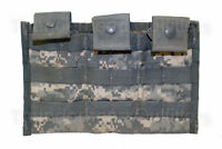 US Army ACU TRIPLE MAG POUCH, 3 x 30 MOLLE II Side by Side Pouch USGI VGC