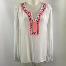 Lilly Pulitzer White Long Sleeve Tunic Size Medium