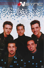 Poster : Music : N Sync -All 5 Posed - Black - Free Shipping #7588 Rc48 J