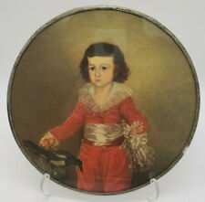 "Rare Antique Flue Cover Goya'S Red Boy ""Boy In Red"" by Francisco Goya 9.25"""