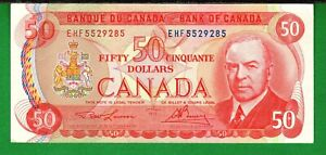 Canada - 1975 Bank of Canada  $50 Dollars P90a Banknote XF/aXF+ Condition