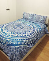 Bohemian Hippie Bed Sheet Cover Indian Mandala Wall Hanging Bedspreads Queen