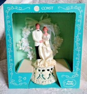 Vtg 1980s Coast Novelty MFG Bride & Groom Wedding Anniversary Cake Topper NIB