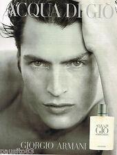 PUBLICITE ADVERTISING 065  1997  GIORGIO ARMANI  parfum homme  AQUA