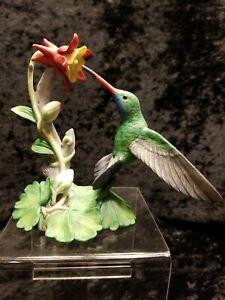 Lenox Broad-Billed Hummingbird 1992 Figurine Porcelain Garden Birds Collection