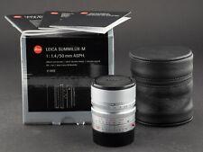Leica M 50mm 1.4 asph. Summilux silber 6bit 11892 FOTO-GÖRLITZ Ankauf+Verkauf