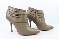 Bottines Boots Talons Aiguilles NINE WEST Cuir Gris taupe T 39 TRES BON ETAT