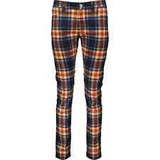 VERSACE Versus Tartan Check Print Skinny Jeans Denim Trousers W33 BNWT UNISEX