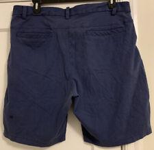 "Lululemon Logo 9"" Short Cotton/Poly/Lycra Stretch Athletic Shorts Men's Sz 40!"