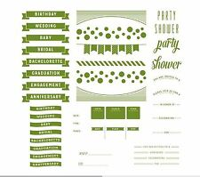 """Lifestyle Crafts-We """"R"""" Letterpress Printing Plate Set WHIMSY INVITE  ~03751-4"""