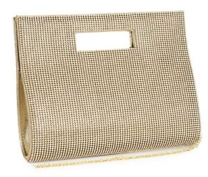 Womens Diamante Encrusted Structured Top Handle Prom Clutch Party Evening Bag
