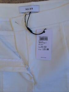 Reiss Women Trouser White Formal/Smart UK 14 Eur 42