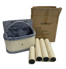 Tree Condo with Scratching Post Roypet-011 Gray Multi-level Cat Tree NEW Open bo