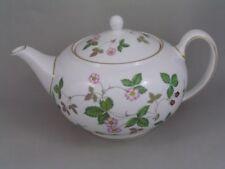 Unboxed Wedgwood Porcelain & China Teapot Wild Strawberry