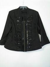 BN City Chic Ladies Black Zip Front  Lined Stretch  Jacket   Size: S = 16 AU