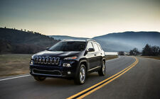 """JEEP CHEROKEE 2014 EDITION A1 CANVAS PRINT POSTER FRAMED 33.1"""" x 21.4"""""""
