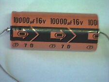 Elko 10000uF 16V 85° axial Kondensator Capacitor REC