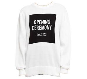 Opening Ceremony unisex box logo crewneck Jumper Size Medium RRP $460