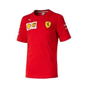 NEW Scuderia Ferrari F1 KIDS Childrens Junior Boys T Shirt Tee Red OFFICIAL