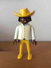 playmobil 3770 gare Colorado Springs homme noir, plastron blanc