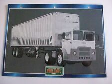 CARTE FICHE CAMION TRACTEUR CABINE AVANCEE WHITE 1500 T COMPACT 1963