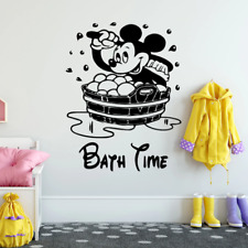 Disney Mickey Mouse Wall Stickers For Kids Bathroom Accessories Home Decorative