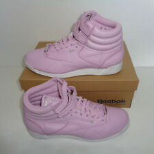 New Reebok Classic Ladies Freestyle Pink Trainers Shoes Womens RRP £79.99 Size 5