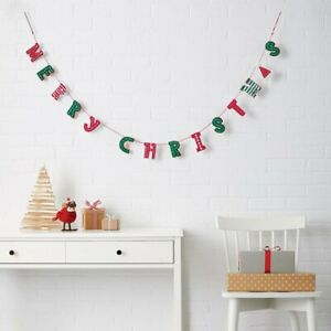 Gingerbread Man Red Personalised Christmas Decoration Bunting Banner Garland