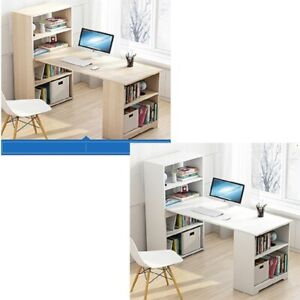 Home Office Computer Desk Corner PC Laptop Table Study Gaming Workstation Wood