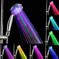 Colorful Head Home Bathroom 7 Colors Changing LED Shower Water Glow Light USA