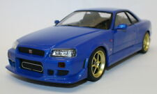 Greenlight 1/18 Diecast Model Car 19032 - 1999 Nissan Skyline GT-R R34 - Blue