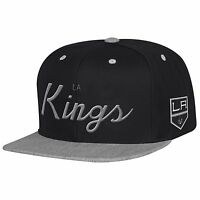 Los Angeles Kings Mitchell & Ness Speical Script 2 Tone Snapback Hat Cap NHL