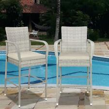 2 x Breakfast Bar Stools Durable Kitchen Patio High Chair Rustic Seat Garden Cha