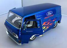 Jada Dub City die-cast  1:24 scale 1965 Blue Ford Racing Econoline Van - No box