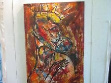 "Del Castillo Original painting Cuban Art Acrylic on Linen 51"" x 36"""