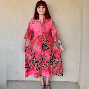 Vintage 1960s Montgomery Ward Kimono Kaftan
