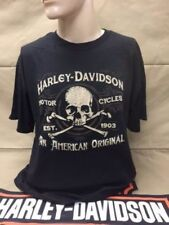 "Harley-Davidson Men's S/S Black ""Prime"" Skull cross bones shirt Large"