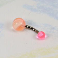 NEW BELLY BANANA - ACRYLIC MARBLE BALL ENDS - H259-H263