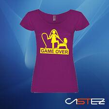 Camiseta mujer DESPEDIDA DE SOLTERA GAME OVER boda FIESTA (ENVIO 24/48h)
