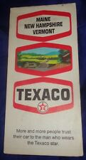 BS715 Vtg Texaco Oil Co. Road Map Maine New Hampshire Vermont 1969