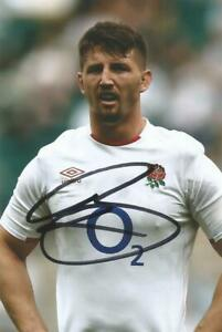 ENGLAND & SALE SHARKS RUGBY UNION: BEN CURRY SIGNED 6x4 ACTION PHOTO+COA