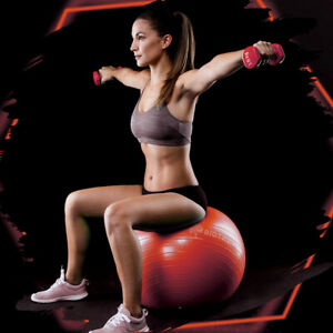 Anti-Burst Heavy Duty Stability Yoga Ball Exercise Birthing Ball Chair Red 55cm