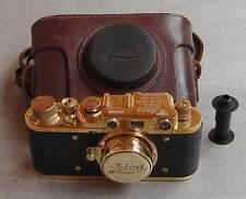 Leica II D Marine copy gold in leather case (FED Zorki copy)
