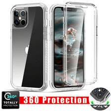 Shockproof 360 CLEAR Full Body Hard Case Cover For iPhone 12 Pro Max 11 XR 6 7 8