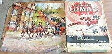 LUMAR Vintage Jigsaw Puzzle no.63 'COACHING DAYS' - complete OLD